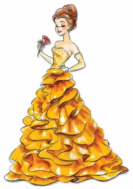 Love this drawing of Belle!!