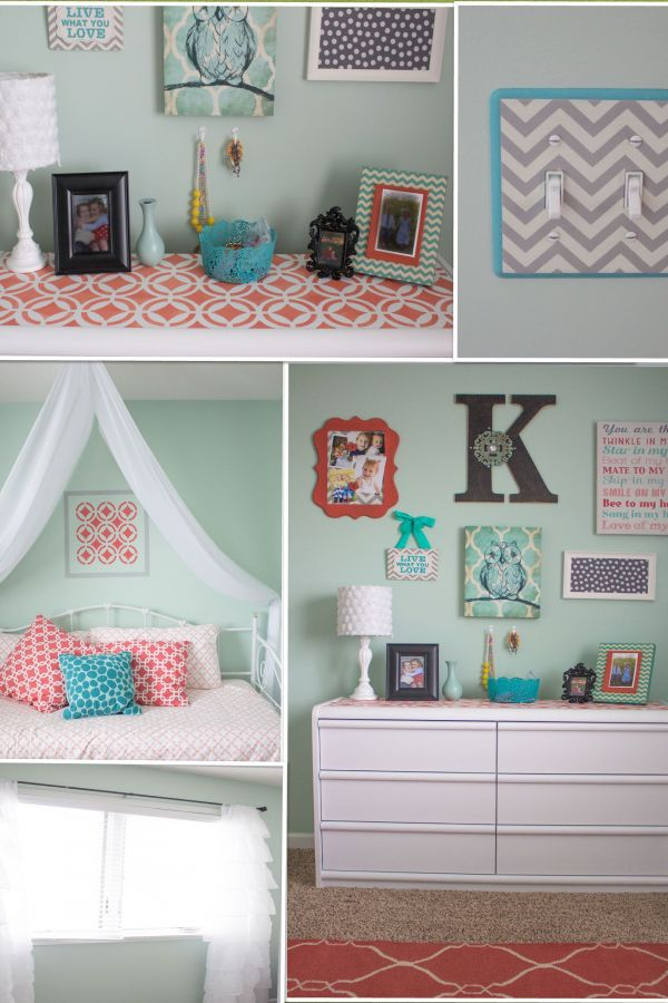 Creative Mint Green Coral And Grey Dorm Room Ideas Picture Coral Room Decor Coral Room Turquoise Room