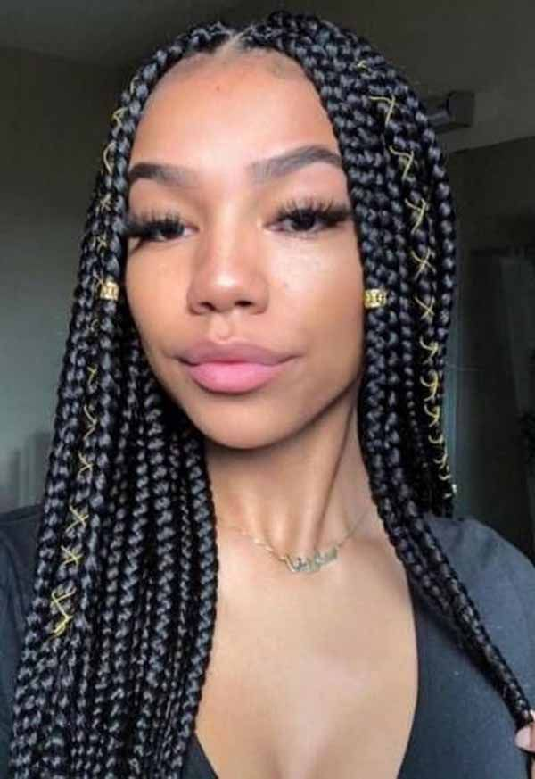 5 Best Ideas About Natural Braids Hairstyles Box Braids Styling Box Braids Hairstyles Colored Braids