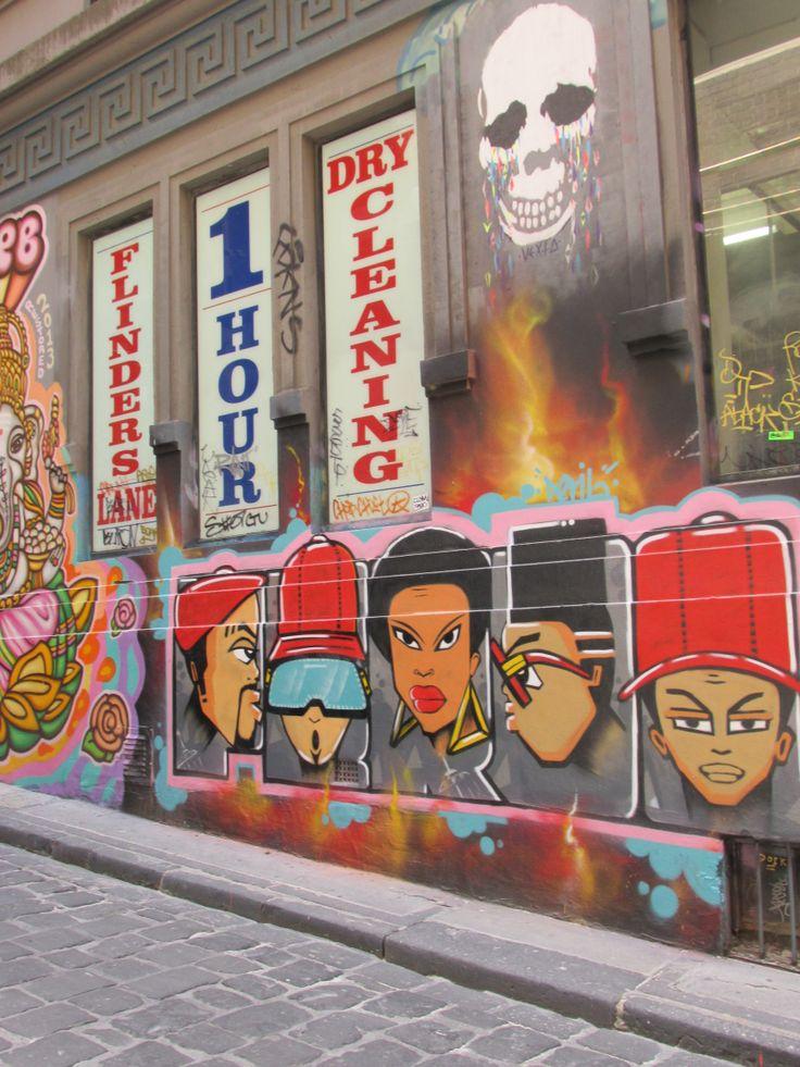 Hosier Lane - Grafitti Laneway.