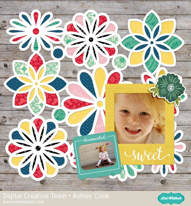 New Lori Whitlock Patchwork Template 1 Layout by Ashley Cook (available at Snap Click Supply).