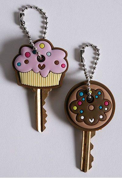 Cupcake & Cookie Key Caps - DIY Fimo Idea