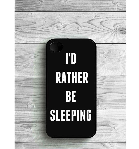Phone Case Quote Sleep For iPhone 4/4S iPhone 5/5S by LENKALIKE