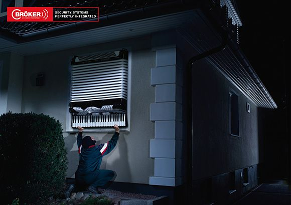 This advertisement reaches out to the appeal of needing to feel safe. This company uses the piano as a representation of their system. The piano is a loud instrument and will alert the homeowners of any burglary going on, therefore allowing them to reside safely inside their home with a strong home protection system.