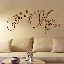 large music room wall quote - Music Wall Decor