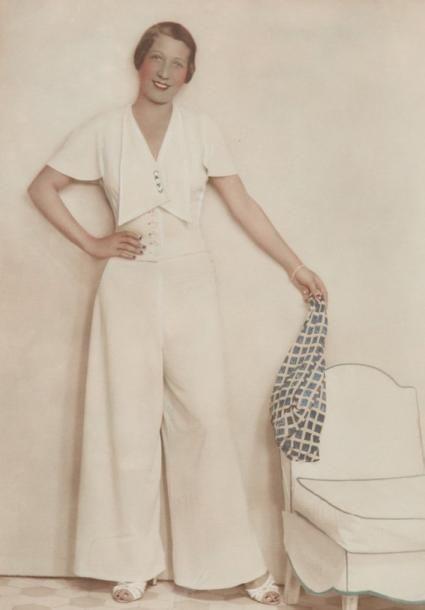 1935 elegant wide pants