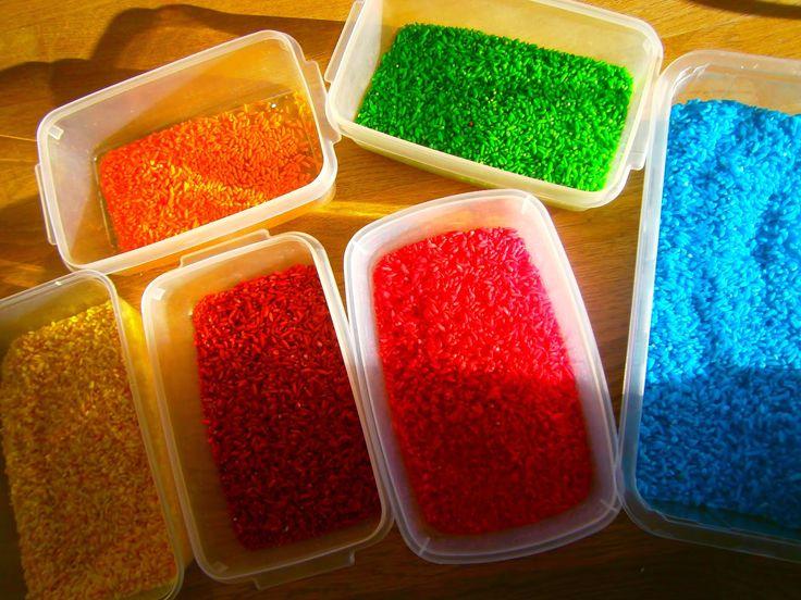Unsre Kinder ....... unser Leben : REGENBOGEN REIS ....rainbow rice ganz einfach gefä...