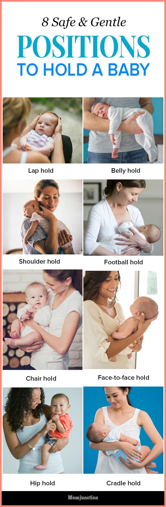 8 manieren om de baby vast te houden.