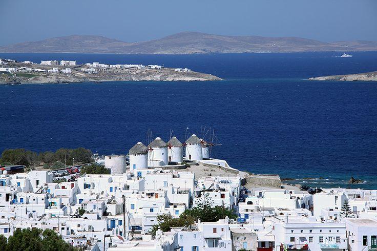 Town of Mykonos island in Greece