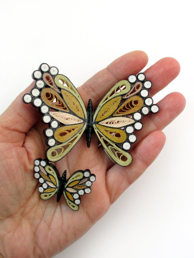 Quilling Earring Designs Butterfly : 453 best Quilling- Butterflies images on Pinterest Butterflies, Quilling and Quilling butterfly