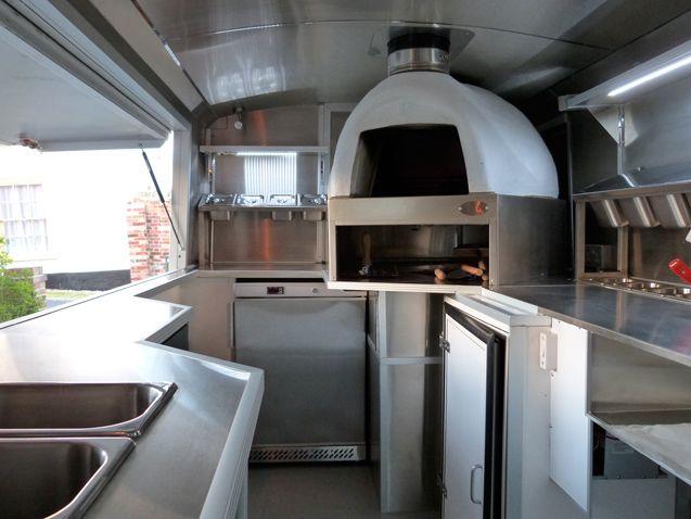Inside the pizza van Citroën HY