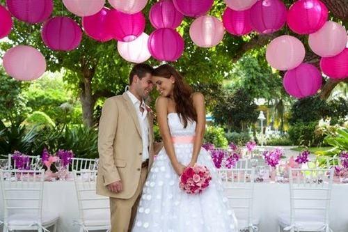 deco mariage vert et rose - Recherche Google
