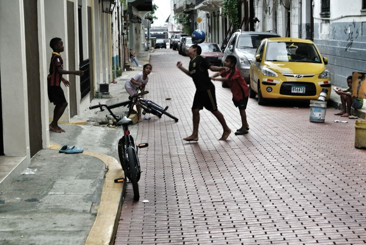 Children playing in the streets of Casco Viejo, Panama