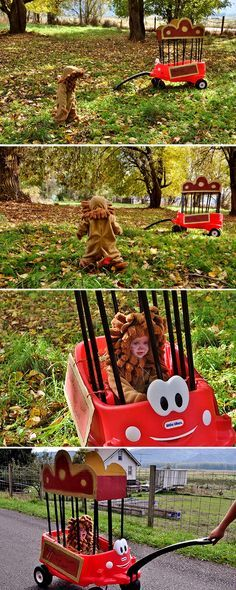 Toddler Lion Costume and Circus Cart- Transform the Little Tikes® Cozy Coupe®…