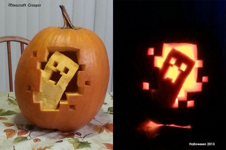 halloween 2013 Pumpkin Carving - Minecraft Creeper by bluedragon82 on deviantART