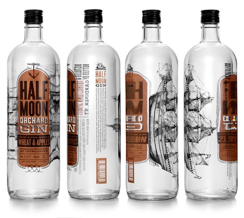 gin bottle packaging design | pirate ship