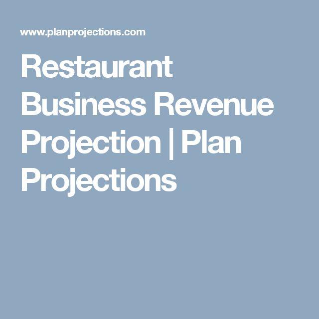 Restaurant Business Revenue Projection   Plan Projections