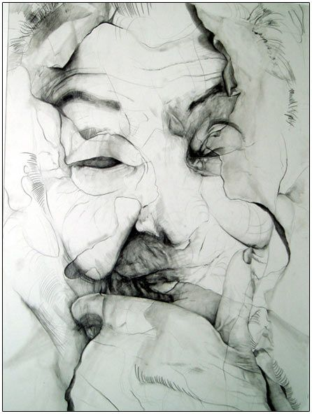 Colin Harbut | Decomposition of Memory | Graphite on Illustration Board | 30x40 inches