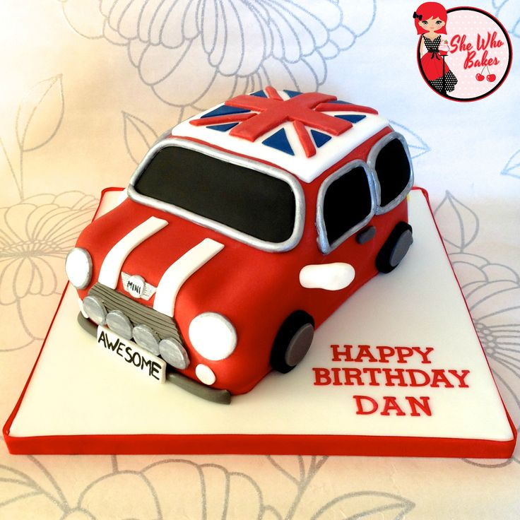 Mini Cooper car Cake All Edible 3D Working headlights www