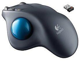 Logitech M570 Wireless Long Range Trackball Mouse PC Mac Gray Blue 910 001799