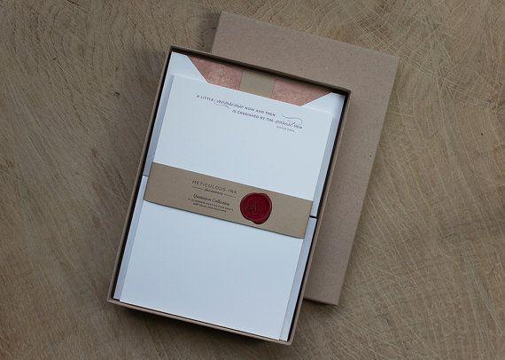 Roald Dahl Quote Letterpress Letterhead Box Set by MeticulousInk