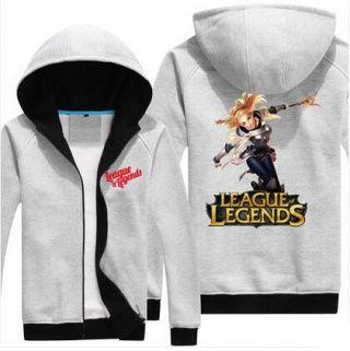 Fleece sweatshirt for men League of Legends Lux design XXXL