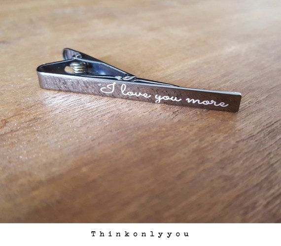 personalized Tie Bar -Handwriting Tie Bar- Perfect Groomsman Gift - Signature  tie clip , Wedding, Father's Day, Tie Bar,Handwritten Jewelry