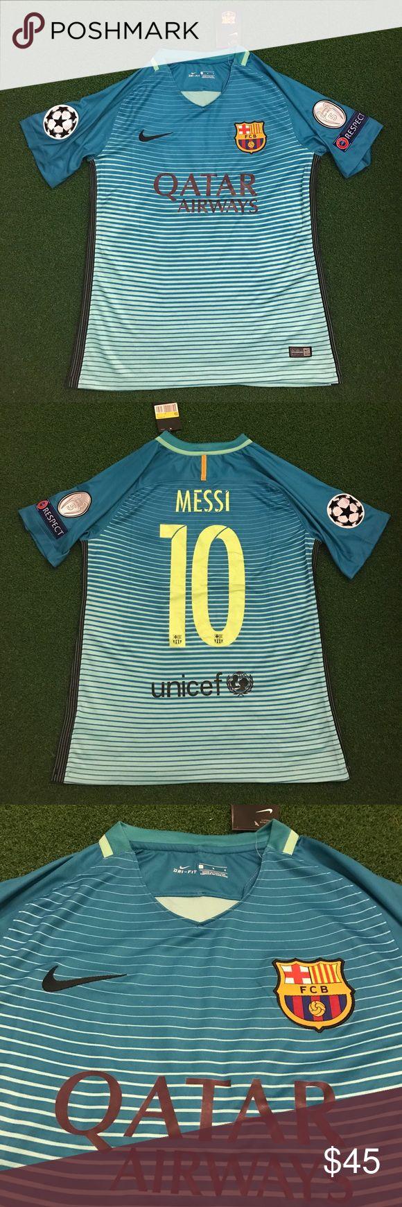 La liga de f tbol profesional laliga is a private non profit sports - Messi Barcelona Soccer Jersey Champions League Nwt