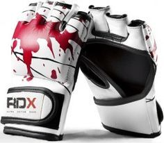 Authentic RDX Leather Gel Tech MMA UFC Grappling Gloves Fight Boxing Punch Bag K