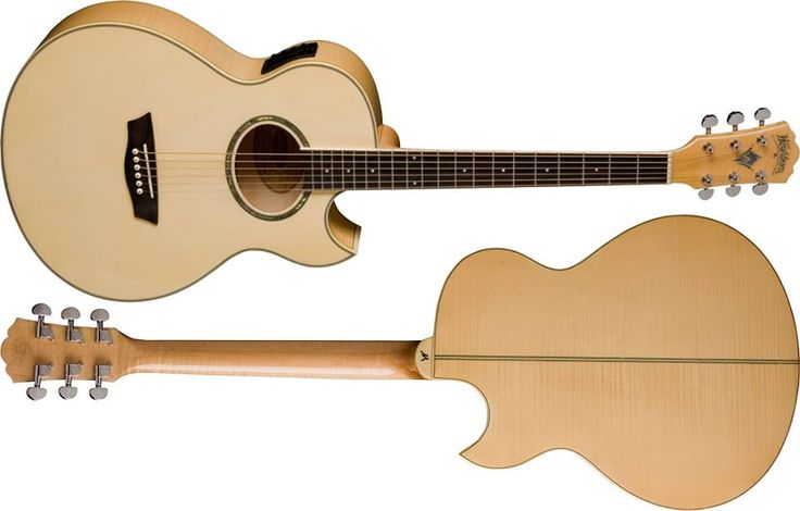 Washburn Guitars The perfect stage acoustic, the EA20 has a feedback reducing thinner body, a cutaway for hitting the high notes and a built-in tuner/preamp for perfectly shaping your acoustic tone.