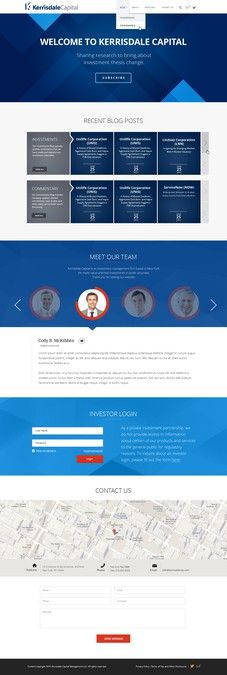 Design Sleek Website for Financial Investment Research Company by Vladan Zlatic