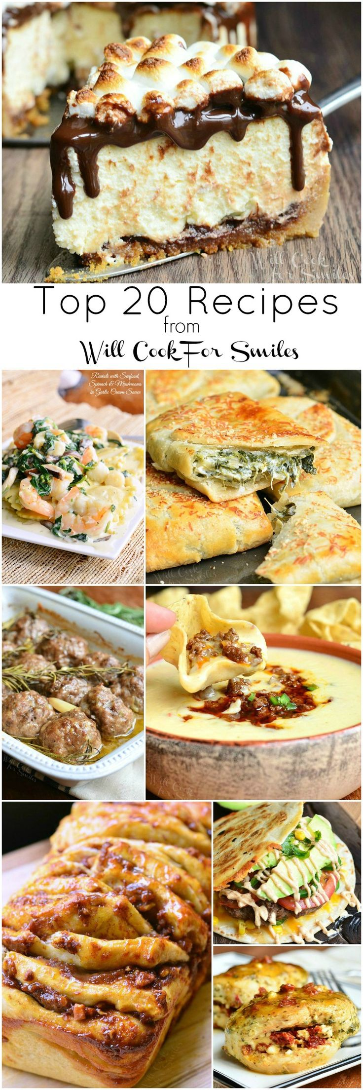 Top 20 Recipes of 2015 from Will Cook For Smiles – The Most Popular Sweet and Savory Recipes!