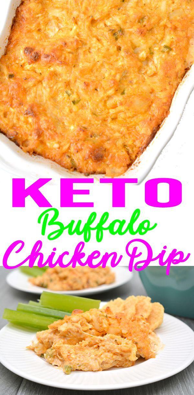 Keto Buffalo Chicken Dip – EASY Low Carb Ranch & Shredded Chicken Buffalo Dip Recipe – BEST Snack or Parties Dip Idea