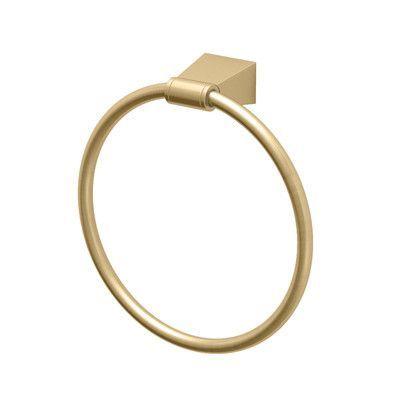 Gatco Bleu Towel Ring Finish: Matte Brass