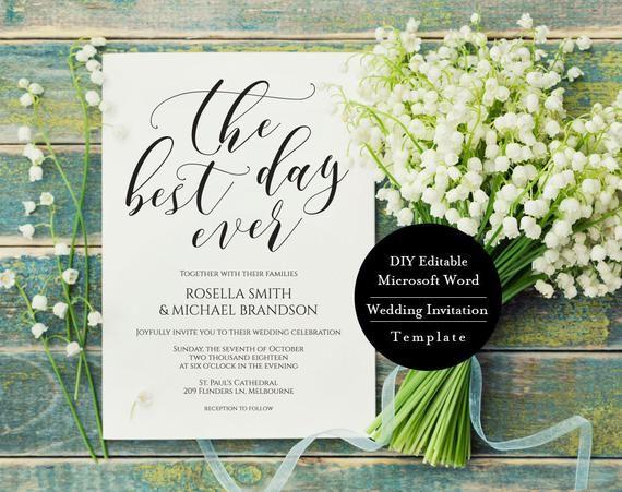 Wedding Invitation Set Template Download