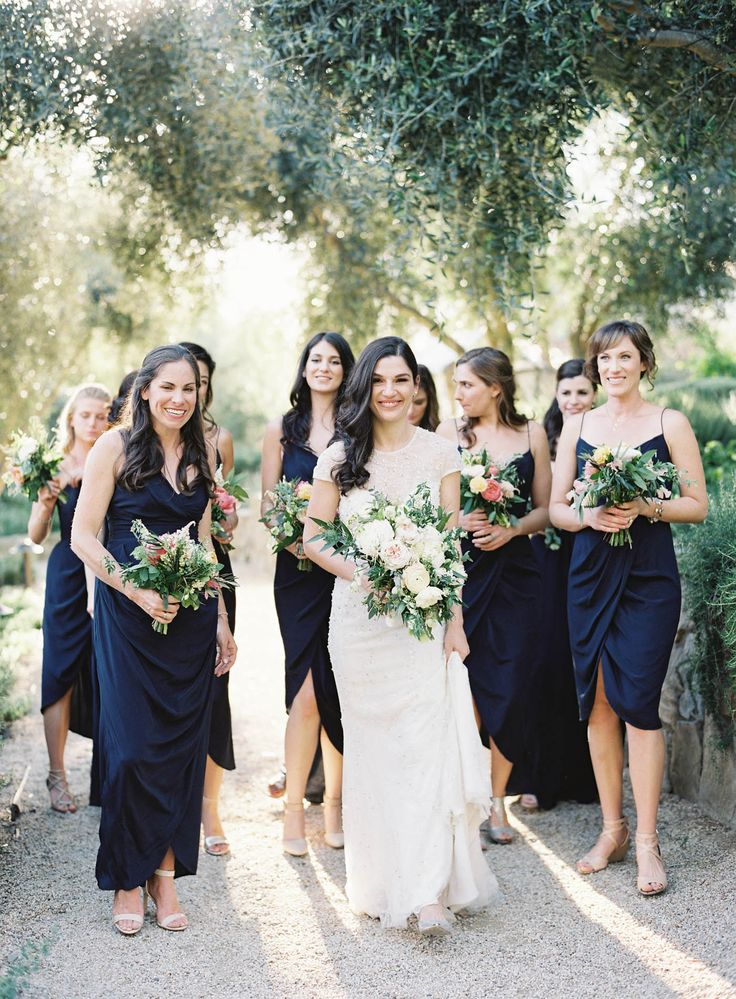 Ojai Valley Inn Spring Wedding | Twig & Twine | All You Need is Love Events | Jen Huang Photo | JenHuangPhoto.com | Mix and Match Bridesmaids Dresses