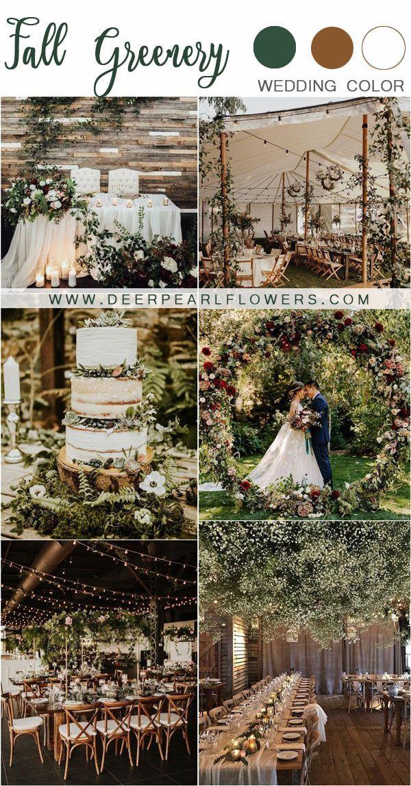 unglaublich 20 trendige rustikale Herbstgrün Hochzeitsideen