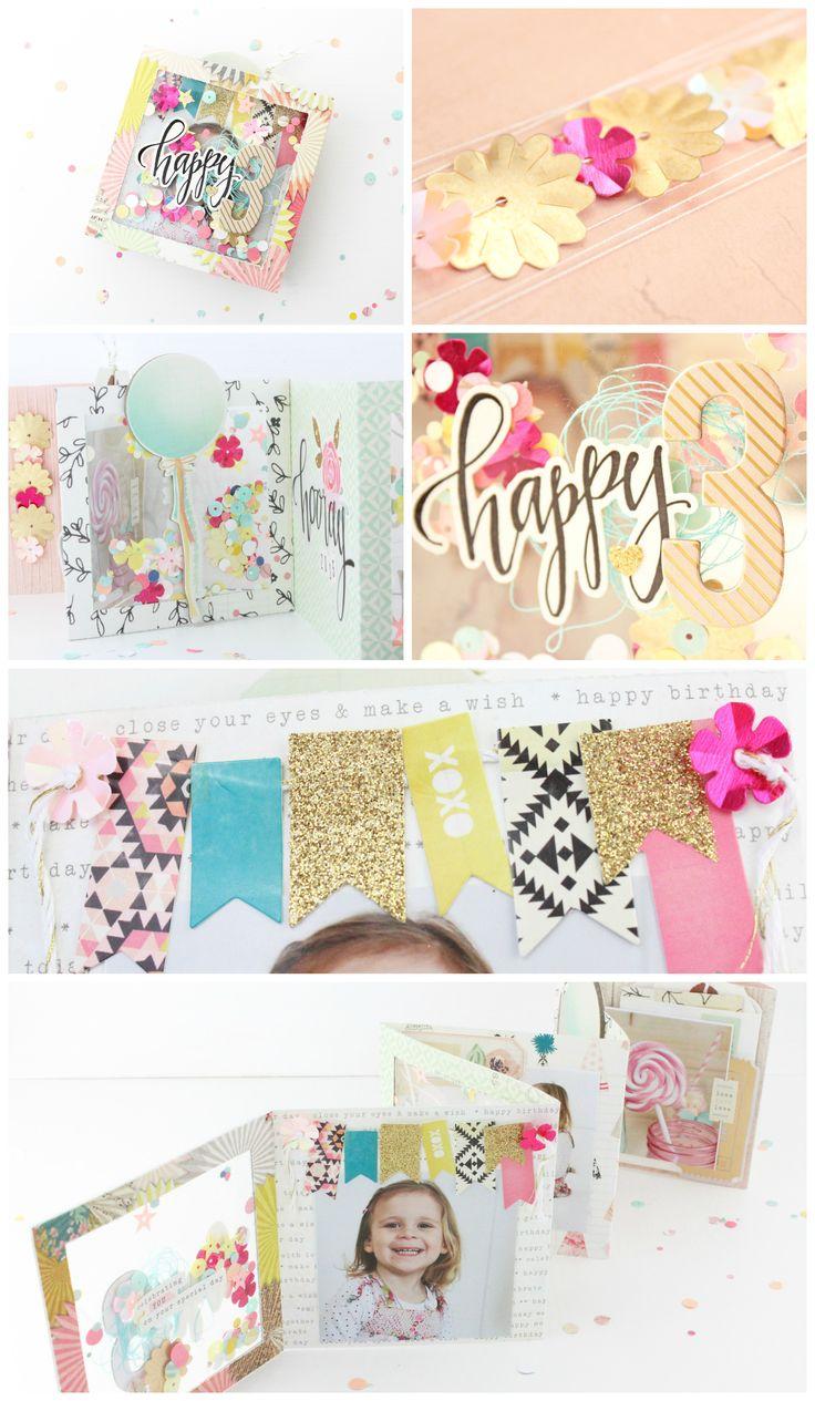 Steffi Ried Minialbum Confetti mit der Maggie Holmes Kollektion Confetti
