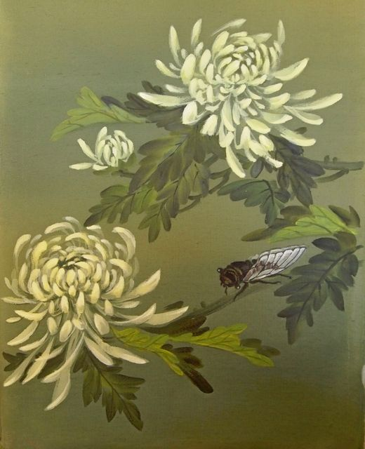 Рисунок - Китайская живопись - Се-И - Хризантема и цикада. Нажмите на изображение, для того, чтобы посмотреть изображение в максимальном размере