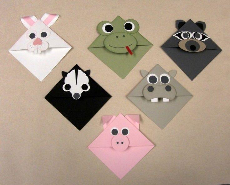 Kids bookmarks - punch art