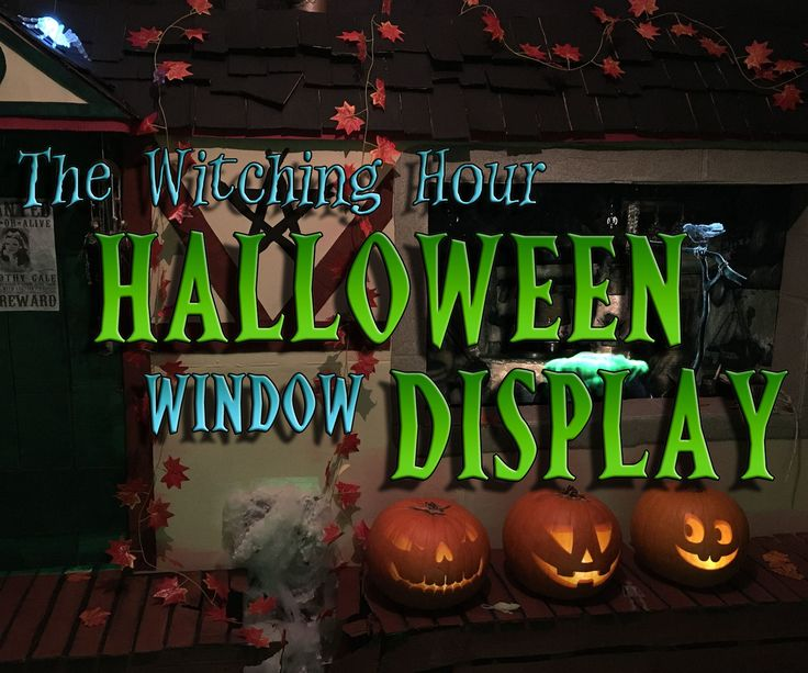 The Witching Hour Halloween Window Display