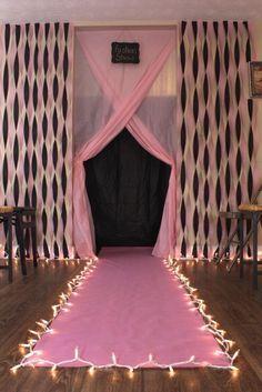 DIY Fashion Show Runway for birthday party.