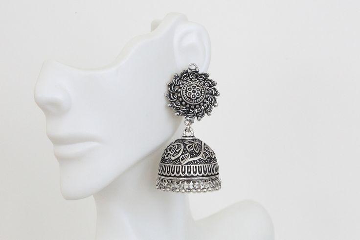SuryaKranti Jhumka Silver Jhumka - AristaBeads Jewelry  - 2