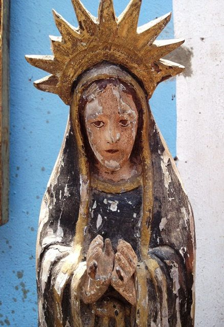 Estatue Virgen de Dolores by MexVintageAntiques