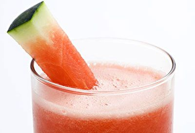 Flat belly drink...Watermelon Smoothie. I can sure do this back home during the summer..even more ways to enjoy a Rocky melon
