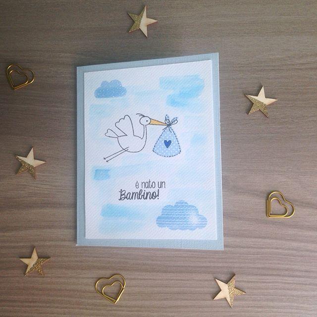 Adoro il timbro #baby di @modascrap 💙💙oggi in versione maschietto ma con lo stesso set si possono realizzare anche progetti per bambina! #love #newborn #cardmaking #cartaypapel #modascrap #timbri #benarrivato #bambino #babyshower #bigliettonascita #handmade #handmadewithlove #bazzillbasicspaper #scrap #scrapitalia #craft #diy #babyboy #scrapbooking #stamp #stamping #stampslover #evedeso #eventdesignsource - posted by Giulia CartaYpapel https://www.instagram.com/cartaypapel. See more Baby…