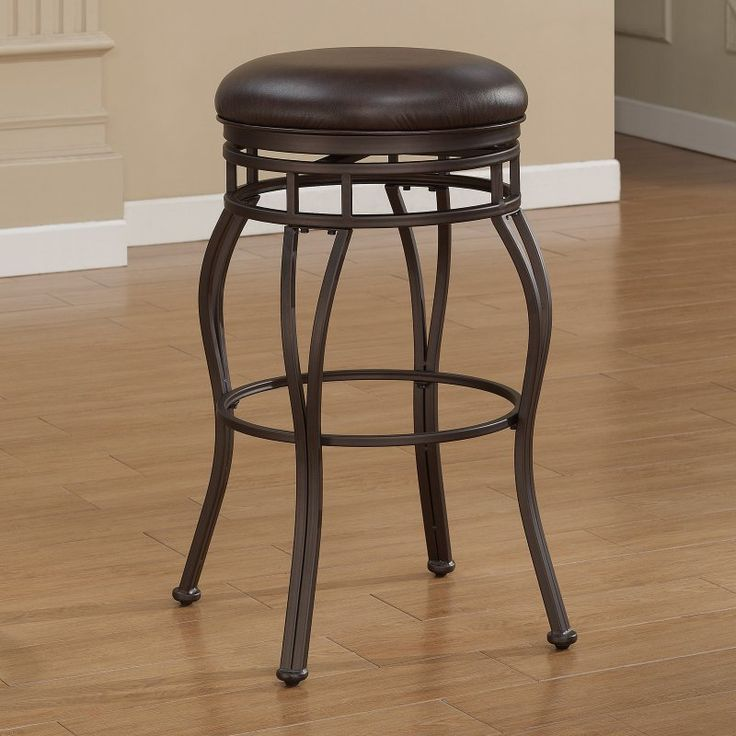 American Woodcrafters Villa Extra Tall Bar Stool   Taupe Gray   The  Backless American Woodcrafters Villa Extra Tall Bar Stool   Taupe Gray Is  An Elegant ...