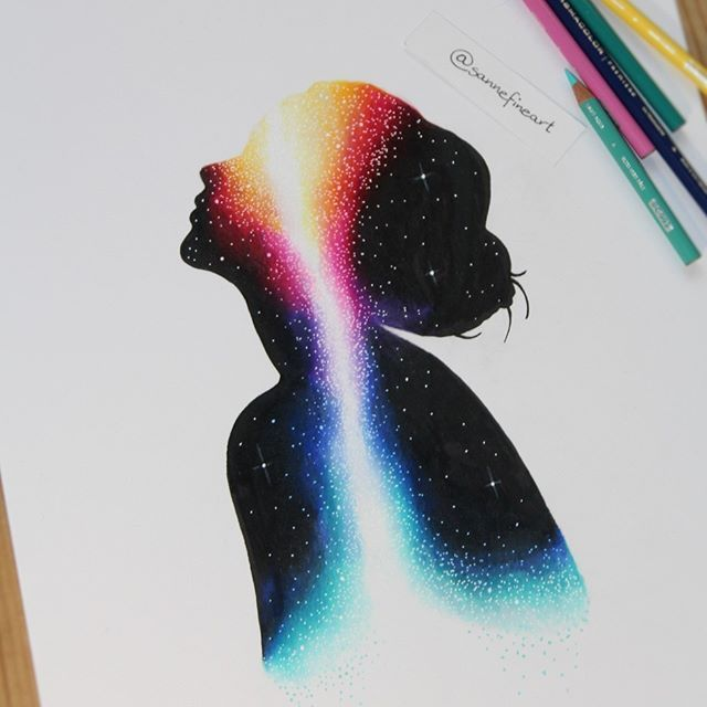 We are all made from stardust...drawn with prismacolors and a white ink pen. Prints are available in my etsy shop. Link is in the Bio