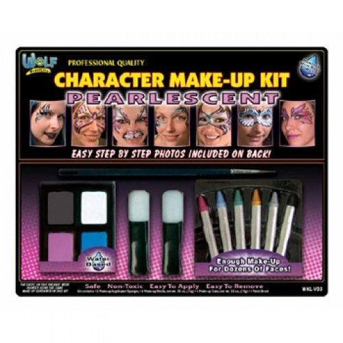 Wolfe Pearlescent Girl Face Painting Kits (10 Colors)