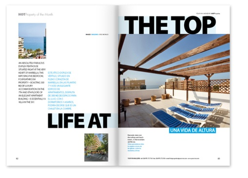 real estate magazine design